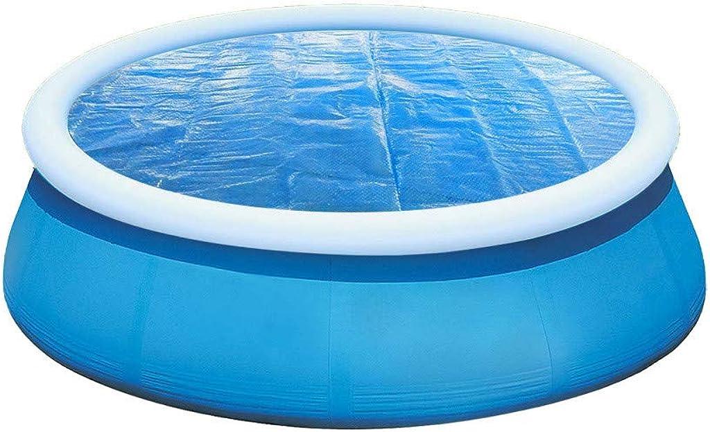 DressLksnf Fundas para Piscinasprotector de Cubierta de Piscina Redonda Pie de 5 Pies sobre El Suelo Protección Azul Anti-Evaporación Y Anticorrosión 152X152Cm (5 Pies)