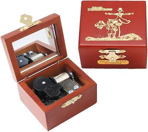 Youtang Howls - Caja musical de madera tallada con diseño de castillo en movimiento para Navidad, cumpleaños, día de San Valentín: Amazon.es: Hogar