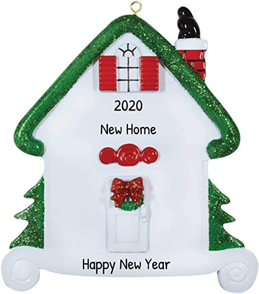 2020 White House Christmas In Red Amazon.com: Personalized House Christmas Tree Ornament 2020   Our