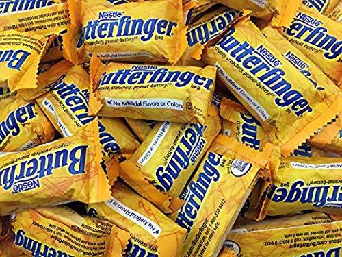 Nestle Butterfinger Snack Size Chocolate Bars   Butterfinger Candy Bars  Peanut Butter Candy Bars Bulk Full Size - 2 lb -
