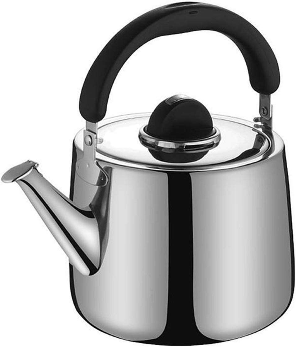 Tea Kettle Camping Stainless Steel Electric Tea Kettle Whistling Teapot Milk Water Coffee Kettles For Universal Induction Cookers Stove Tea Pots (Capacity : 3L)