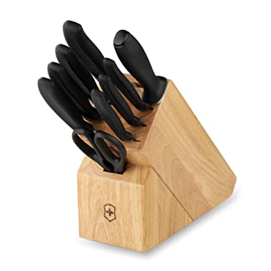 Victorinox Swiss Army Cutlery Swiss Classic Knife Block Set, 10-Piece