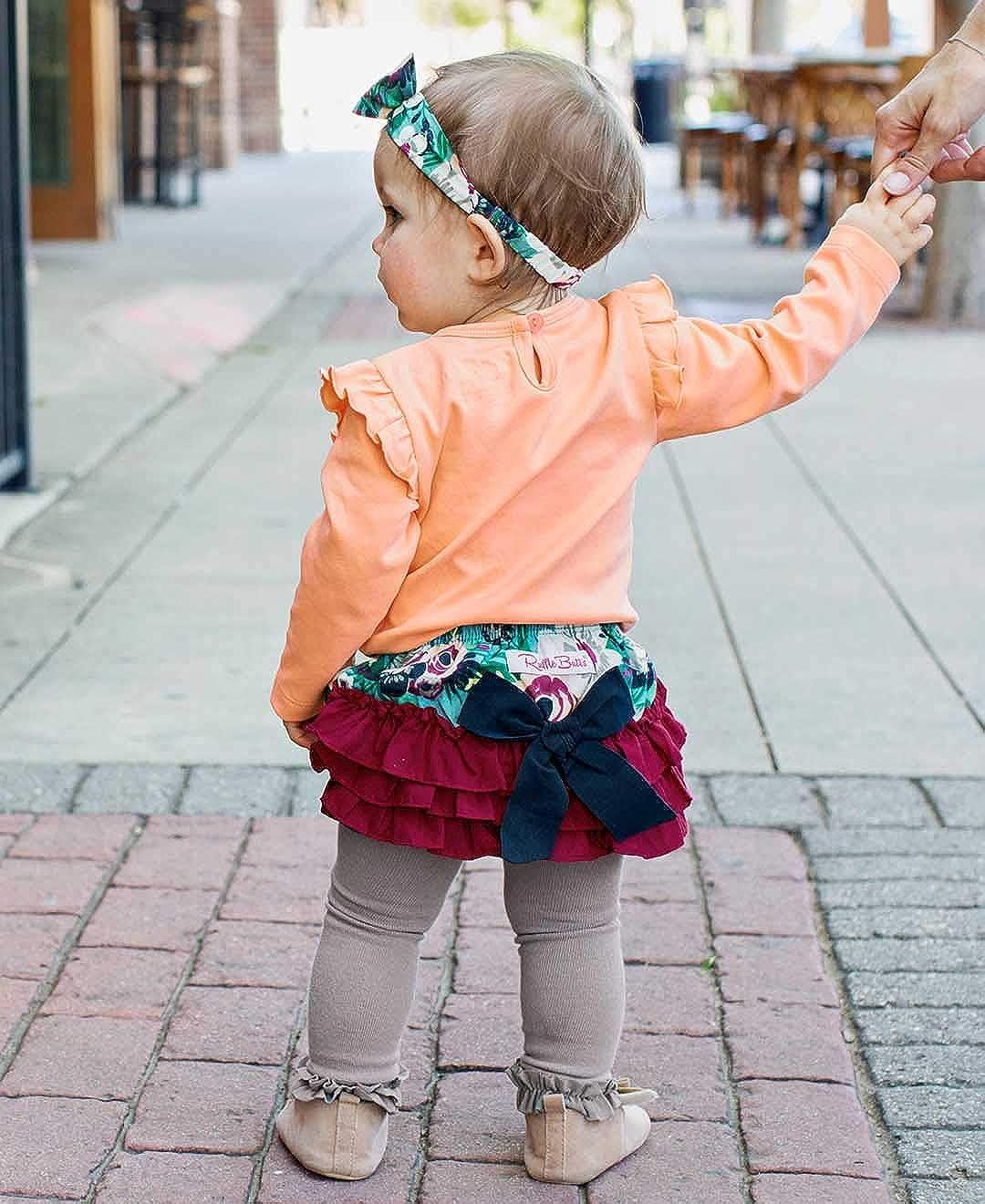 RuffleButts Baby//Toddler Girls Ruffled Woven Bloomer RBWYYXX-0000-SC-BABY