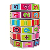 HARMON 1PCS Digital Cube Stress Reliever Cube Children's Mathematics Puzzle Toys Cube Decompression Anxious , Can Add and Subtract Multiplication