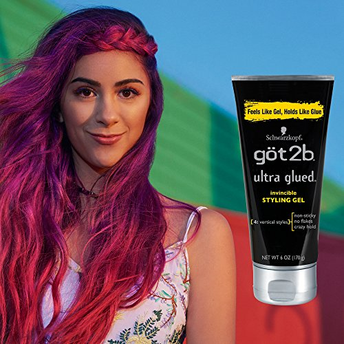 Got2b Ultra Glued Invincible Styling Hair Gel, 6 Ounce (Pack of 3) by Got2b (Image #3)