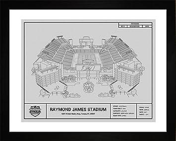 Amazon Com Tampa Bay Buccaneers Raymond James Stadium Framed