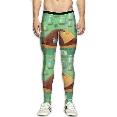 QWYHFHH Men's Dreams Bear Compression Pants Sport Tight Leggings