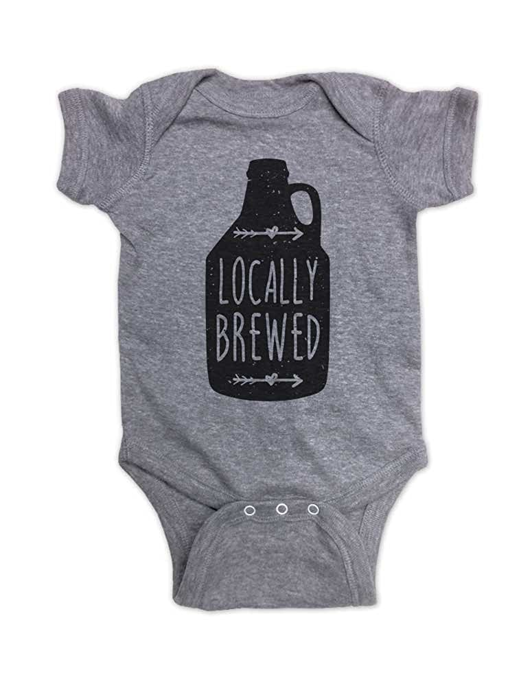 fb693ae73 Amazon.com: Hello Handmade Locally Brewed Craft Beer Drinking Alcohol Funny  Baby Bodysuit Gift: Clothing