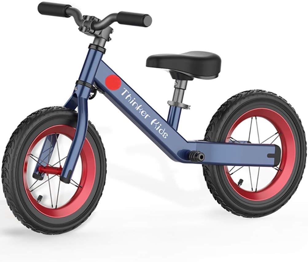 ANYWN Niños Bicicleta de Equilibrio de Bicicletas Bike Training niños sin Pedal Ligero Estructura del Asiento Ajustable con neumáticos de Aire Kids First Edad de Bicicletas 1,5 a 6 años,Azul