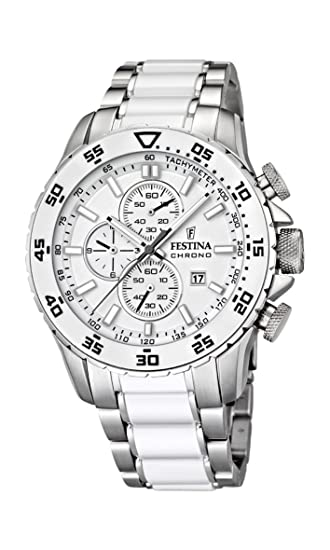 fc4d330155bd Festina F16628 1 - Reloj cronógrafo de Cuarzo para Hombre con Correa de  Acero Inoxidable