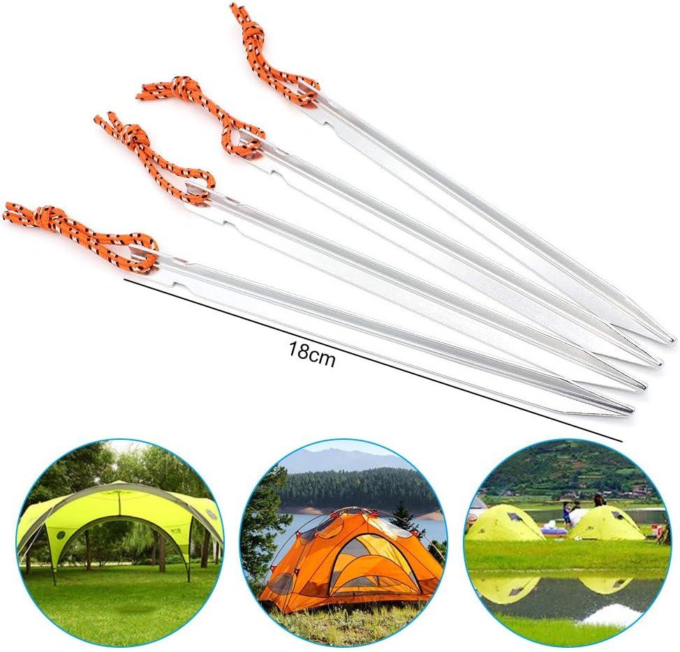 18cm Ultra-l/égers en Alliage daluminium /à Usage intensif DingGreat 12 Pcs Piquets de Tente de Camping piquets de Tente de Camping