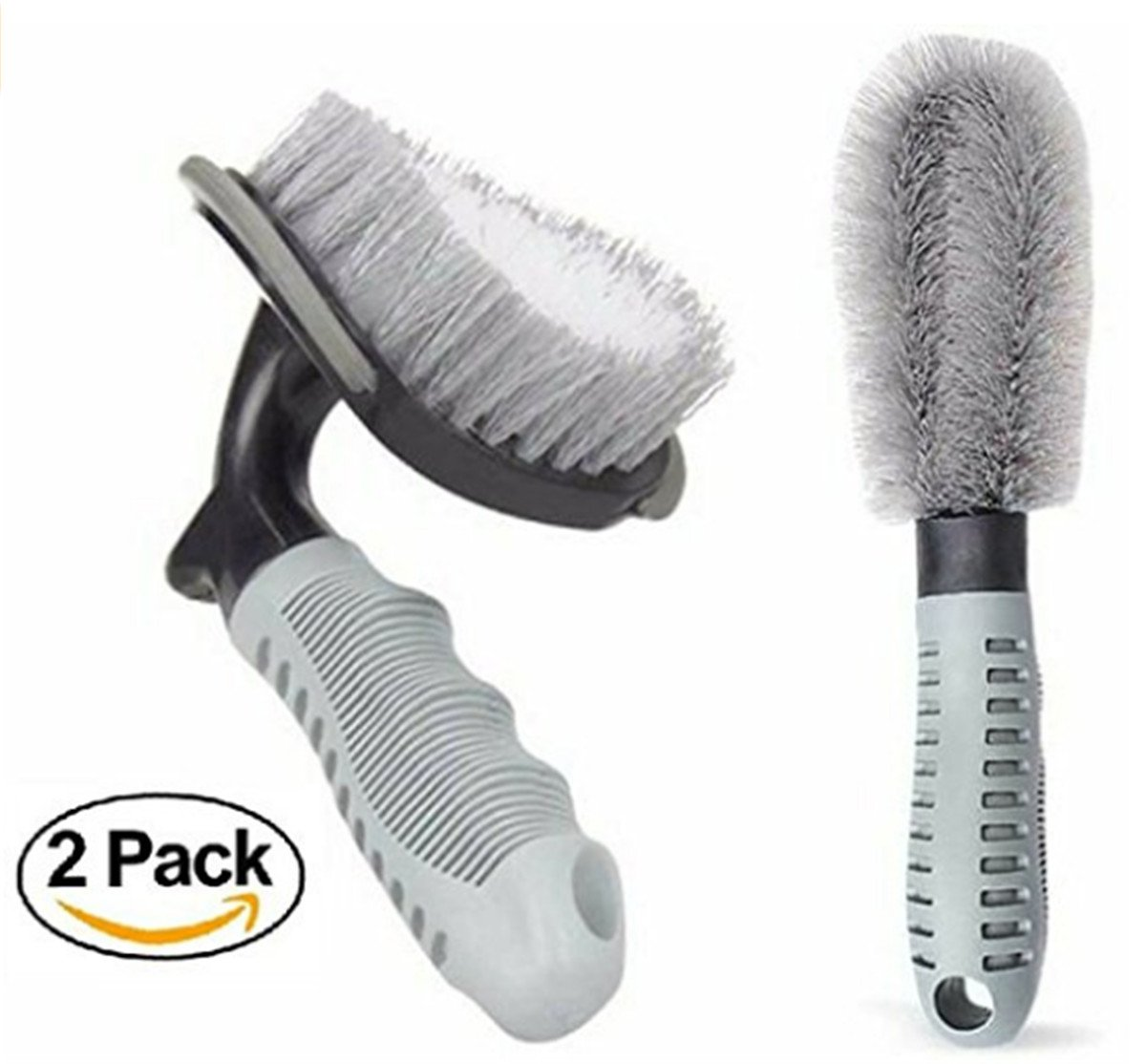 Car Cleaning Brush,Tire Wheel Brush 2 Pack Car Tire & Rim Cleaning/Detail brush Tool for Car Truck Motorcycle or RV