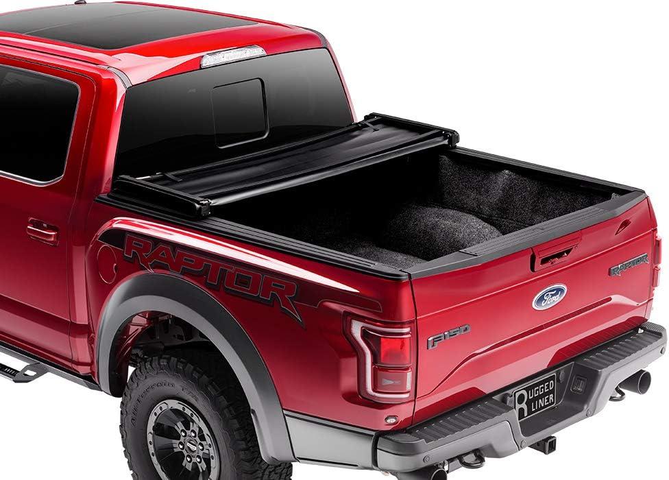 Fits 2014-2018 EH-C5514 Rugged Liner E-Series Hard Folding Truck Bed Tonneau Cover GMC//Chevy Sierra//Silverado 5 8 Bed 19 Ltd//Lgcy