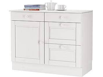 Loft24 Unterschrank weiß Küchenunterschrank Küchenschrank Schrank ...