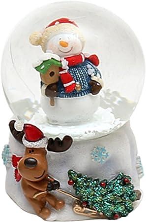 Hermosa bola de nieve con, tamaño aprox., Muñeco de nieve con casita, Ø 4,5 cm: Amazon.es: Hogar