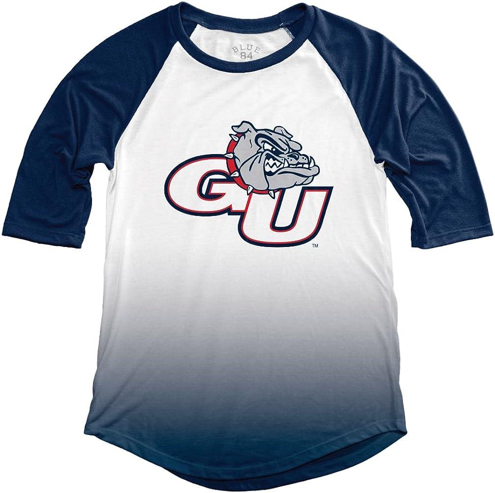 NCAA Gonzaga Bulldogs Adult Women NCAA Womens Sublimated Baseball Tee,Medium,Navy