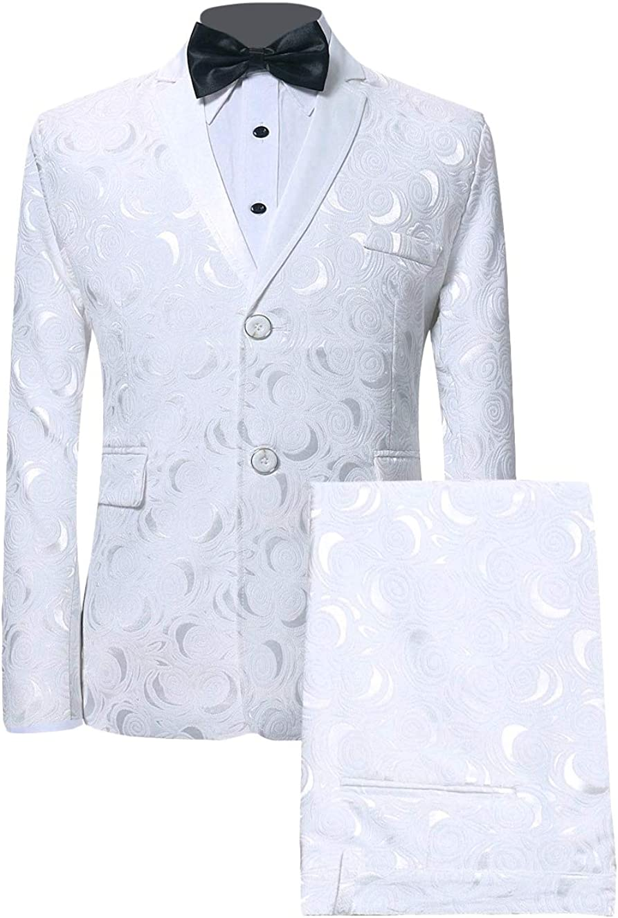 Godeyes Mens Wedding Plus Size Bow Solid Premium Blazer Jacket Suits