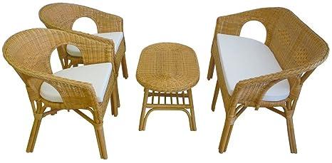 Poltrone E Tavoli In Vimini.Sf Savino Filippo Set Completo Salotto In Vimini Bambu Rattan E