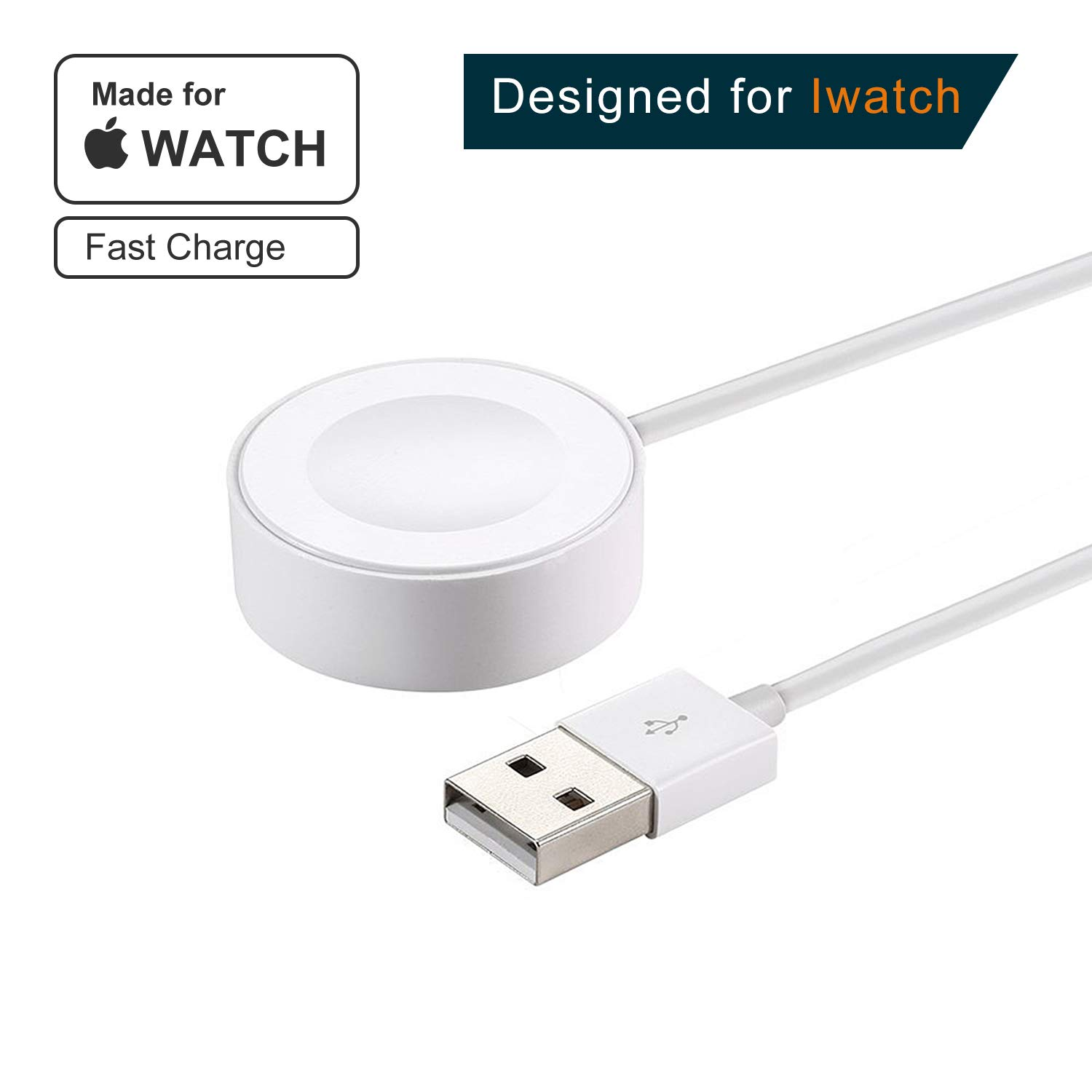 [ Apple MFi Certified ]Apple Watch Charger,3.3FT Magnetic Fast Wireless iWatch Charger Charging Cable Cord for Apple Watch Series 2/3 (38mm & 42mm),Fits Standard Apple Dock