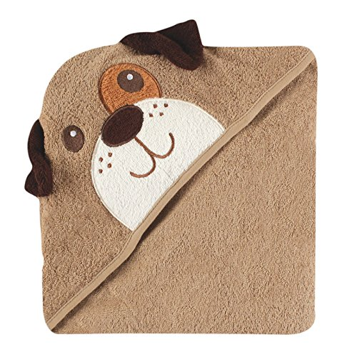 Luvable Friends Animal Face Hooded Towel, Dog (Towel Puppy Bath Hooded)