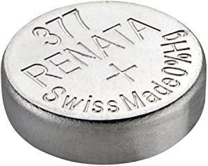 Renata Watch Battery Swiss Made Renata 377 or SR626SW OR AG4 1.5V (1 Battery, 377 or SR 626 SW)