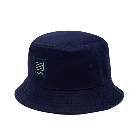 Lacoste Mens Twill Bucket Hat - Navy Blue - L  Amazon.co.uk  Clothing bdefe171b6e5