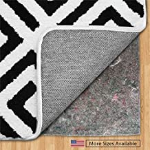 The Original Gorilla Grip (R) FELT + RUBBER Gripper Rug Pad, Extra Thick, Plush Cushion Support for Under Rugs, Made in USA, Many Size Pads Available, For Hard Floors, Protects Floor Surface (8' x 10')