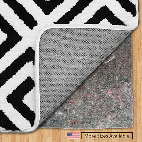 The Original Gorilla Grip (R) FELT + RUBBER Gripper Rug Pad, Extra Thick, Plush Cushion Support for Under Rugs, Made in USA, Many Size Pads Available, For Hard Floors, Protects Floor Surface (4' x 6')