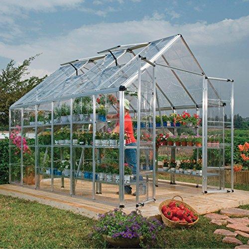 Palram Snap & Grow Greenhouse - 8ft.W x 16ft.L, 128 sq. ft., Model# HG8016