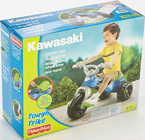 617nyMUE4SL - Fisher-Price Kawasaki Tough Trike, Blue/Green