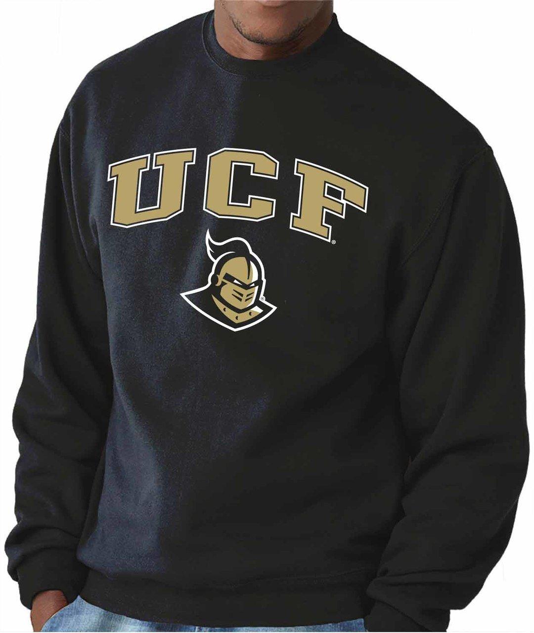 Central Florida Knights Adult Arch & Logo Gameday Crewneck Sweatshirt - Black, Small