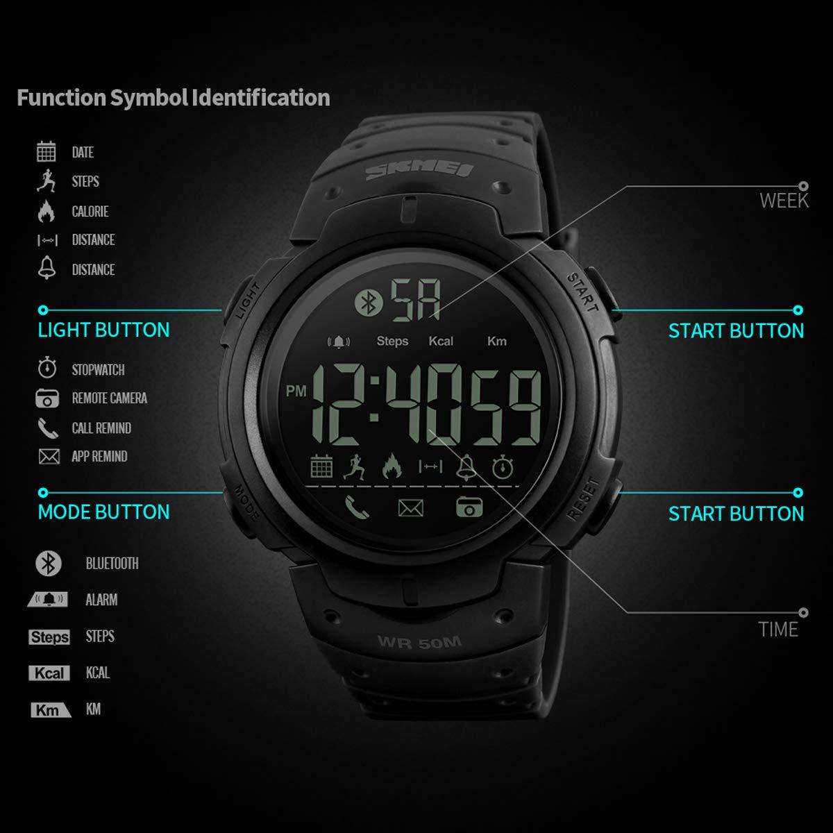 Amazon.com: Mens Watches Mutifunction Sports Pedometer ...