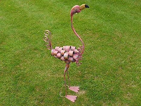 Philomena Flamingo Large Pink Metal Decorative Garden Statue Ornament Tall 105cm