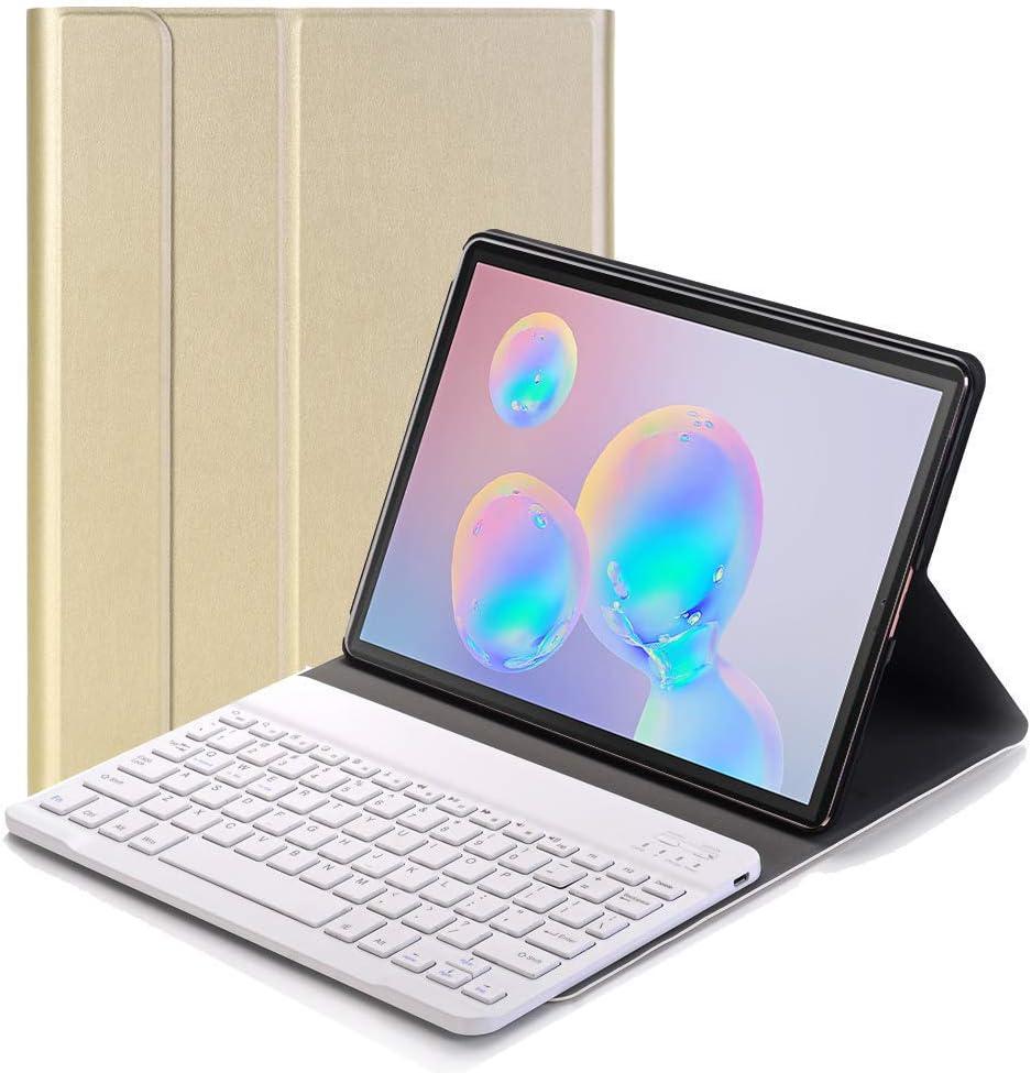 RLTech Teclado Funda para Samsung Galaxy Tab S6 - QWERTY Ultra Slim Teclado Wireless Keyboard Case con Magnético Desmontable Inalámbrico Bluetooth ...