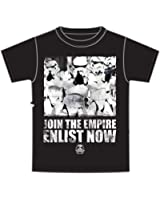 Star Wars Storm Troopers 'Join The Empire' Mens T Shirt Top-Black White