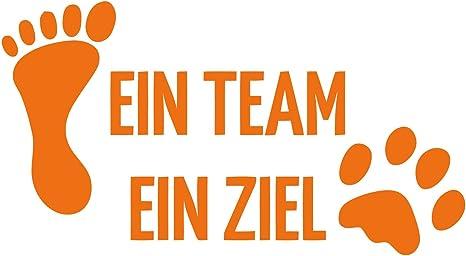 gl/änzend Auto Car Motorrad Fahrrad Roller Bike kleb-Drauf 1 EIN Team EIN Ziel Orange Deko Tuning Stickerbomb Styling Wrapping Autoaufkleber Autosticker Decal Aufkleber Sticker