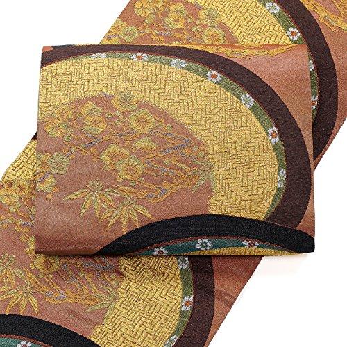 輸送適応的森林袋帯 西陣 となみ織物 仙福屋宗介 雁金織 松 梅