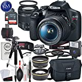 Canon EOS Rebel T7 DSLR Camera w/ EF-S 18-55mm Lens + 2 x 32 GB Memory + Deluxe Striker Bundle