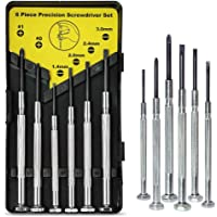 6PCS Mini Screwdriver Set with Case, Precision Screwdriver Kit with 6 Different Size Flathead and Phillips Screwdrivers…