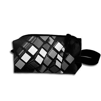 cheap Travel Bag Black Amazing Cube Toiletry Bag Clash Durable Zipper Wallet Makeup Handbag With Wrist Band