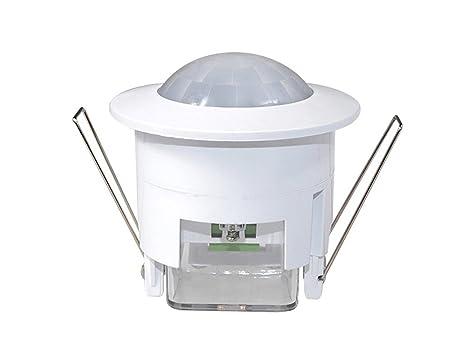 Maclean - Mce20 - detector sensor de movimiento de techo empotrable 360º