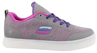 b5e12733050 Skechers Girl's, S Lights Energy Lights Knit Glitz Sneakers Grey Multi ...