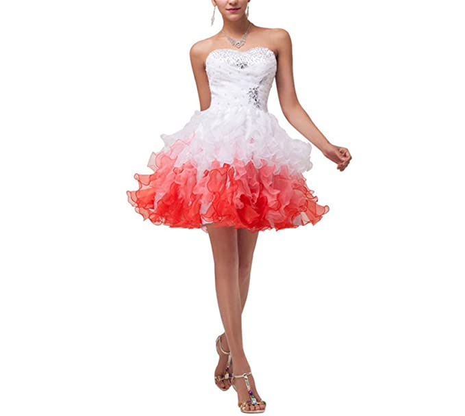 Amazoncom Nboba Mini Vestidos De Cóctel 2018 Organza De