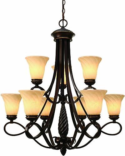 Golden Lighting 8106-9 CDB Torbellino Nine Light Chandelier