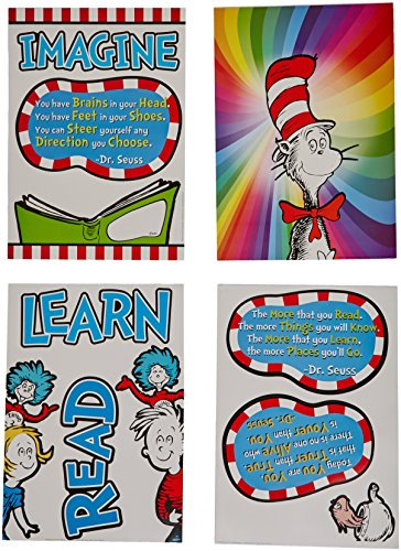 Halloween Bulletin Boards For Library (Eureka Classroom Supplies Dr. Seuss Cat in the Hat 3D Bulletin Board Set, 12)
