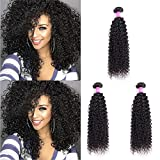 Brazilian Virgin Curly Hair Weave 4 Bundles 7A 100% Unprocessed Human Hair Extensions Natural Color by Lovenea(8 8 8 8)