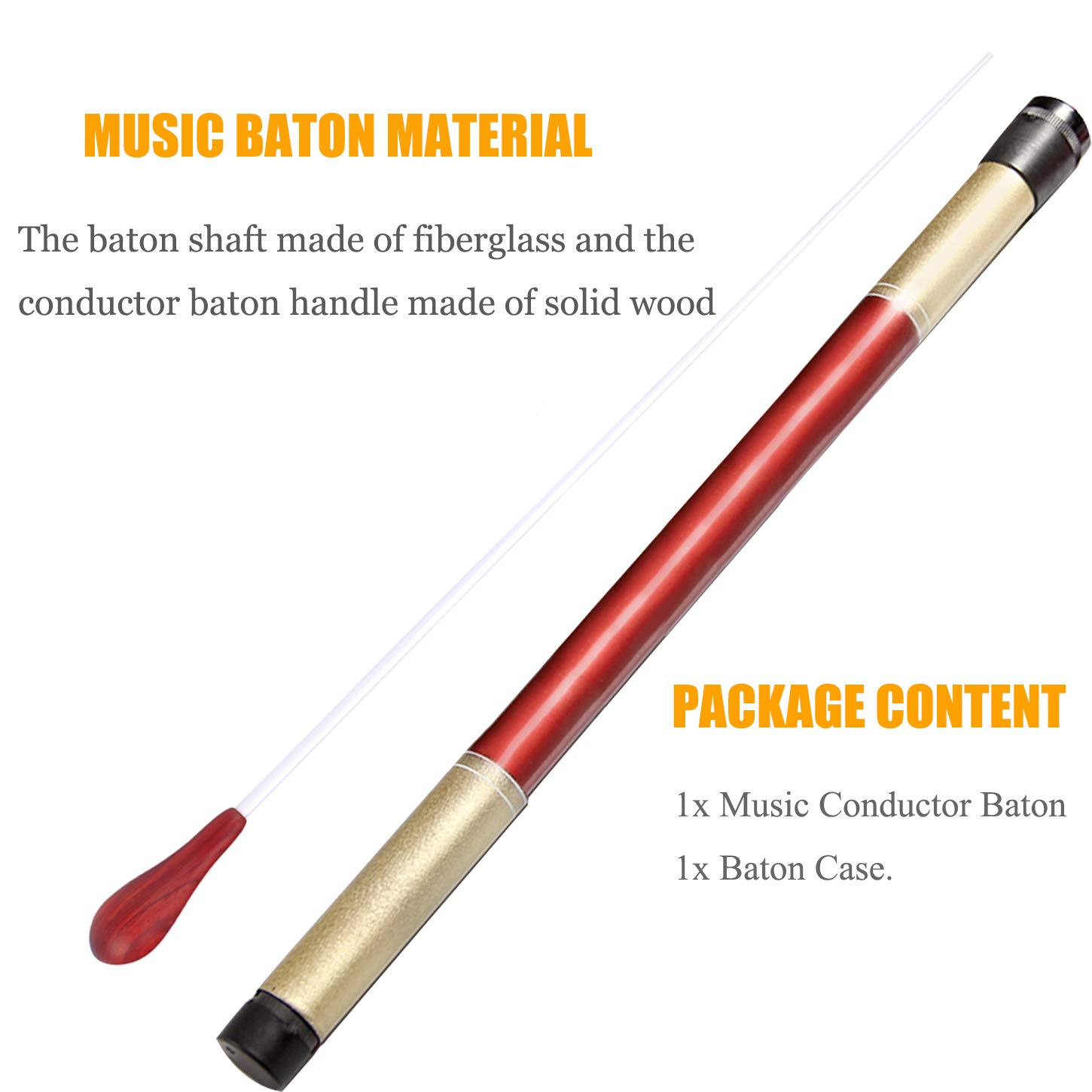 Special Summer Sale Alert Band Director Orchestra Conductor Baton And Wood Case Musical Instruments & Gear Equipment