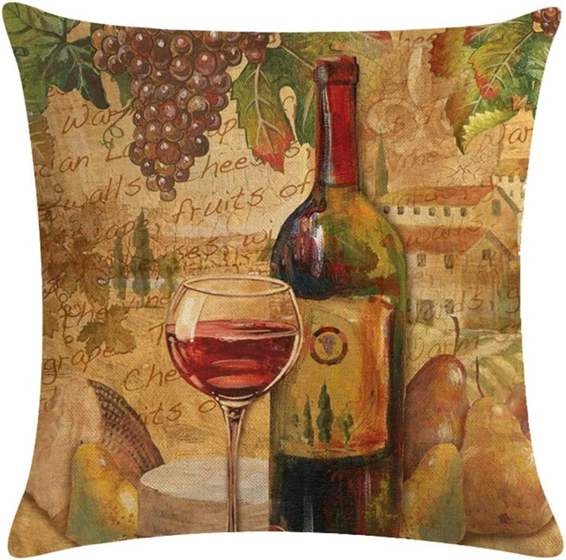 Italy Travel Stamp Pillow Cover Natural Canvas or Lined Burlap 14x14 18x18 22x22 Rome 16 Ink Color Options
