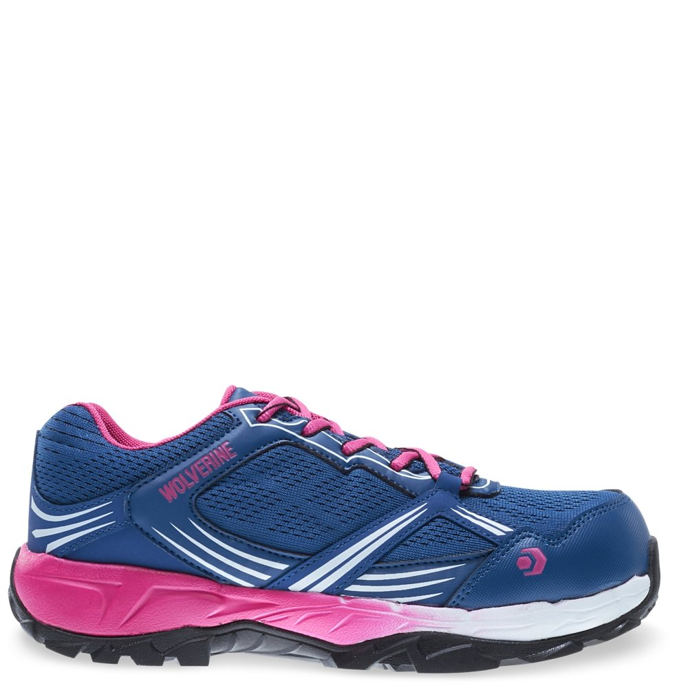 Wolverine Rush ESD CarbonMax Safety Toe Shoe Women 11 Navy/Pink