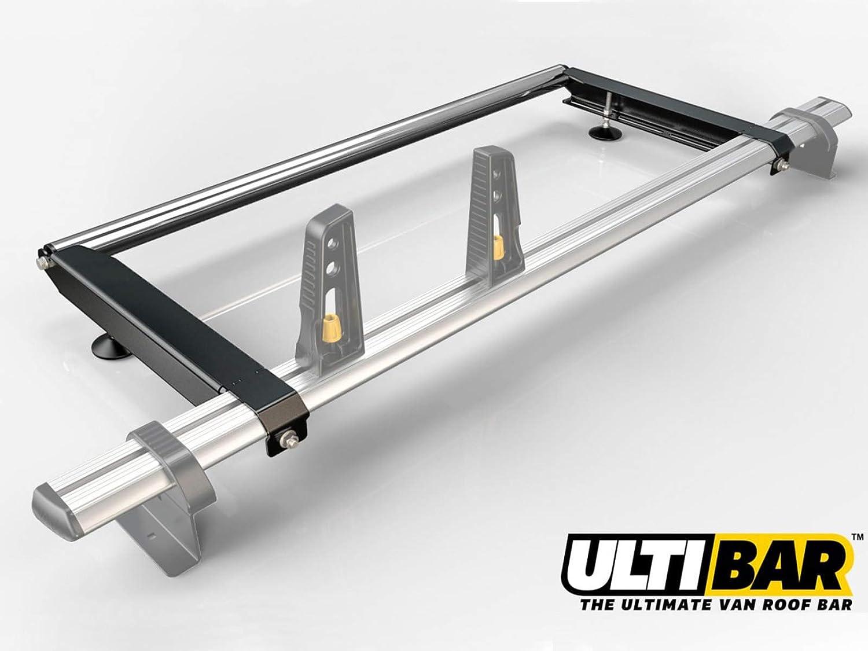 2010 on Van Guard Ulti Bar 4 Bar Roof Rack and Rear Ladder Roller Kit for Renault Master
